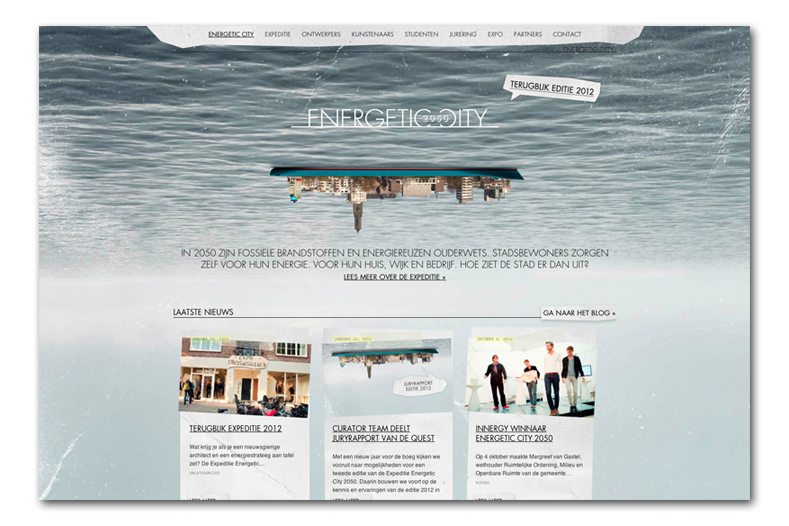 Ontwerp Energetic City 2050 website door Re-act