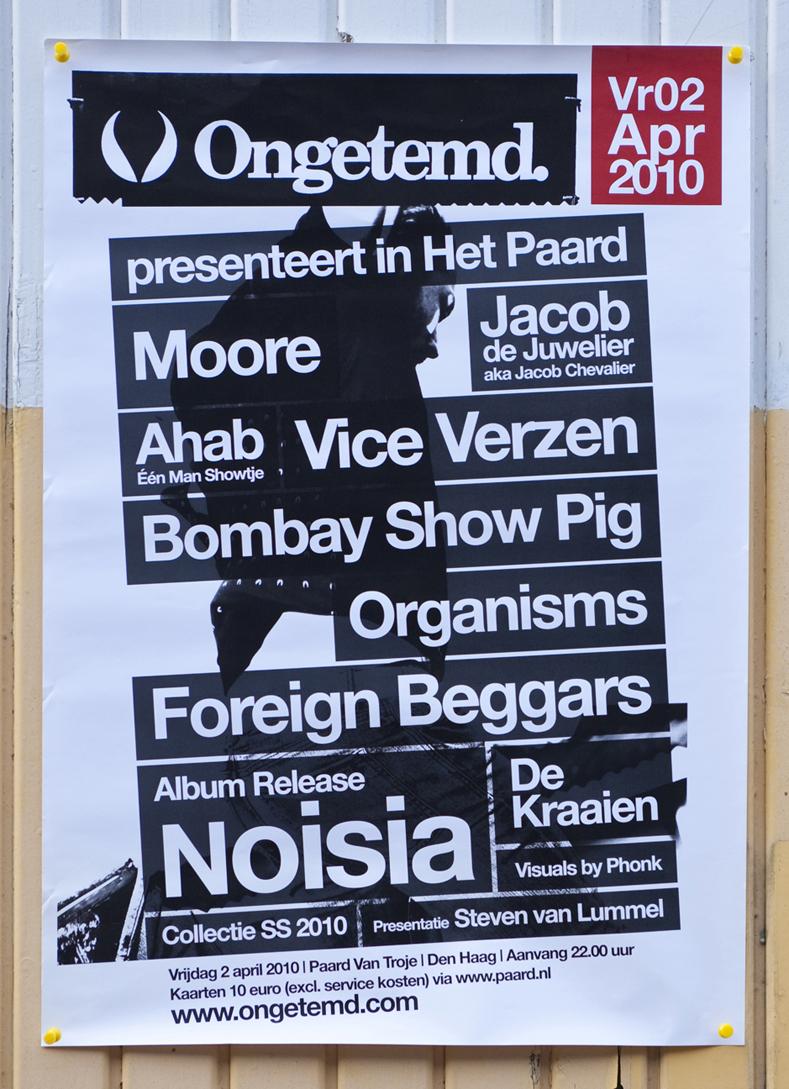 Ongetemd feest promo poster