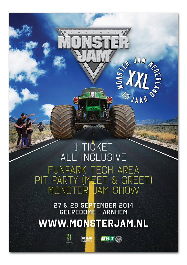 Monster Jam artwork door Re-act
