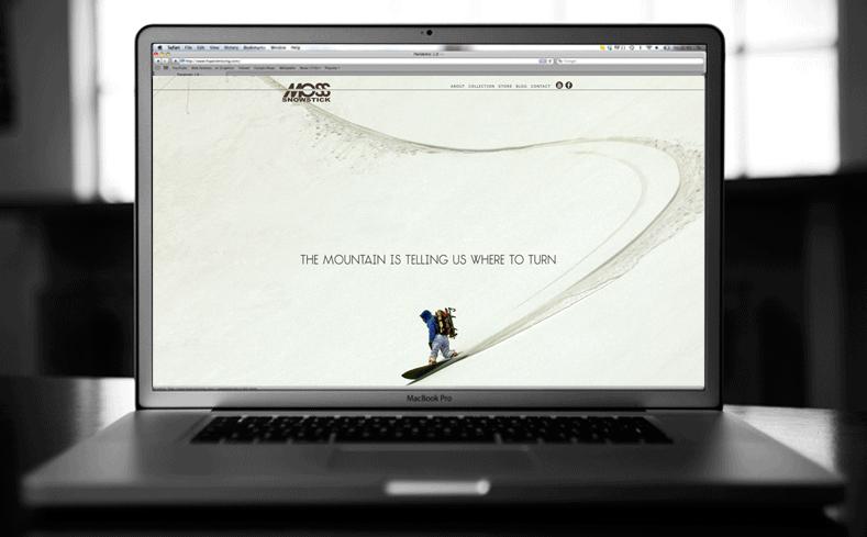 MOSS snowboards website